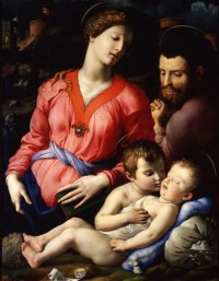 Картина автора Бронзино Аньоло под названием The Panciatichi Holy Family