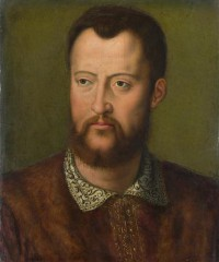 Картина автора Бронзино Аньоло под названием Portrait of Cosimo I de' Medici, Grand Duke of Tuscany