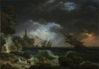 Картина автора Верне Клод Жозеф под названием A Shipwreck in Stormy Seas
