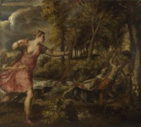 Картина автора Вечеллио Тициан под названием The Death of Actaeon