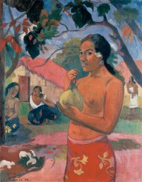 Картина автора Гоген Поль под названием Woman Holding a Fruit