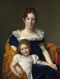 Картина автора Давид Жак Луи под названием Portrait of the Comtesse Vilain XIIII and her Daughter  				 - Портрет графини Вилен XIIII и ее дочери