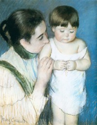 Картина автора Кассат Мэри под названием Young Thomas and his Mother