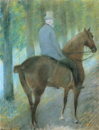 Картина автора Кассат Мэри под названием Mr. Robert S. Cassatt on Horseback