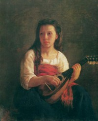 Картина автора Кассат Мэри под названием The Mandolin Player