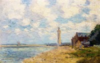 Картина автора Лебург Альберт под названием The Mouth of the Seine, Honfleur  				 - Устье Сены в Онфлёре