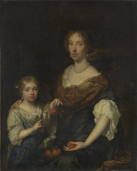 Картина автора Нечер Каспар под названием Portrait of a Lady and a Girl