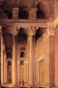 Картина автора Санредам Питер Янс под названием Portico of the Pantheon, Rome
