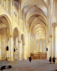 Картина автора Санредам Питер Янс под названием The Nave and Choir of the Saint Catharijnekerk, Utrecht