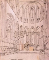 Картина автора Санредам Питер Янс под названием Choir of the Church of Saint Maertens, Utrecht