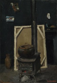 Картина автора Сезанн Поль под названием The Stove in the Studio