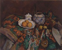 Картина автора Сезанн Поль под названием Still Life with Ginger Jar, Sugar Bowl, and Oranges