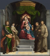 Картина автора Тизи Бенвенуто под названием The Madonna and Child enthroned with Saints