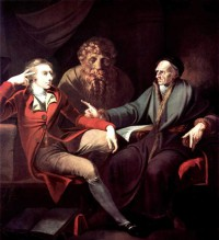 Картина автора Фюсли Иоганн Генрих под названием Fuseli Talking to Johann Jakob Bodmer
