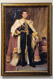 портрет мужчины в образе царя