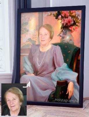 Портрет на холсте женщина в образе