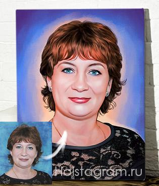 Портрет под живопись